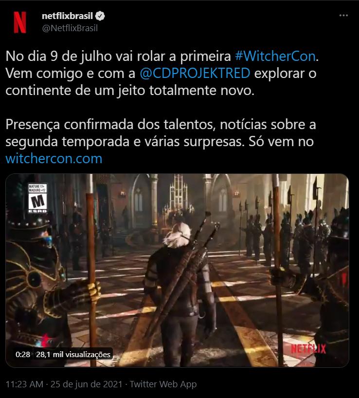 Netflix divulga data da Witchercon - legadoplus