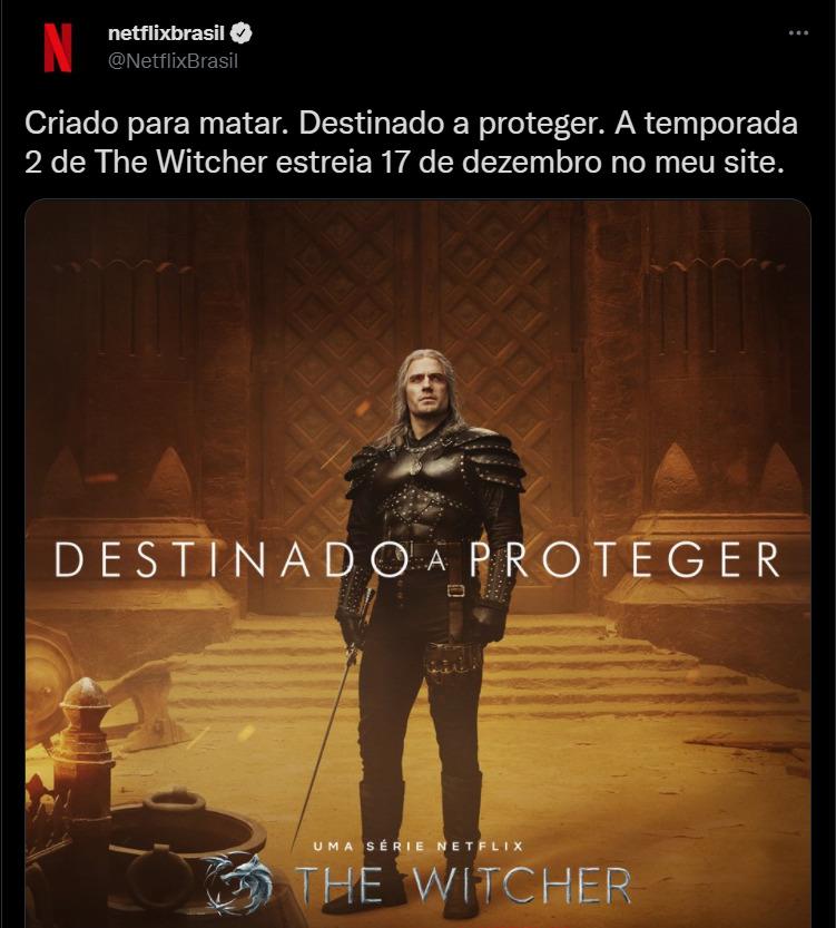 Anúncio da Netflix sobre 2a temporada de The Witcher - legadoplus